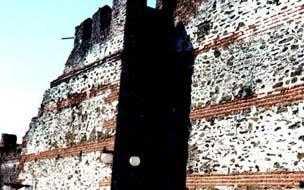 άποψη του βυζαντινού τείχους